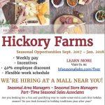 Hickory Farms – Seasonal Job