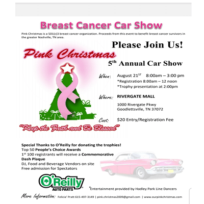 Pink Christmas Breast Cancer Car Show